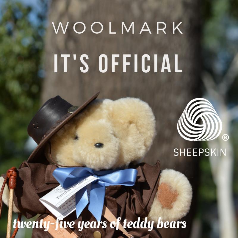Tambo Teddy Bears have Woolmark certification