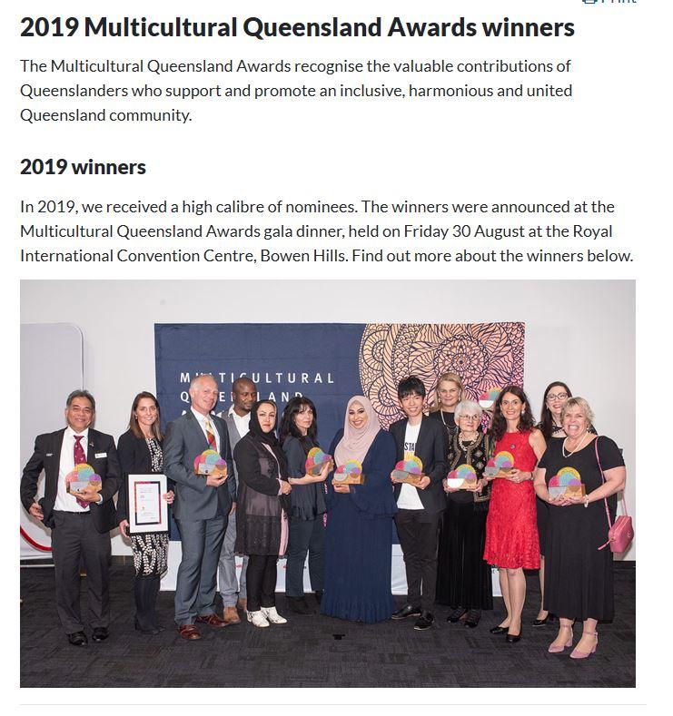 Multicultural Award Winners