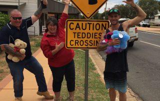 Tambo Teddy Crossing Sign