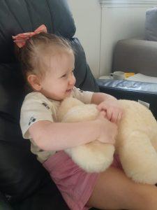 Kendall and Teddy Bear